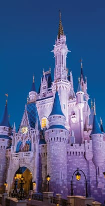 Cinderella Castle at Magic Kingdom park in Florida