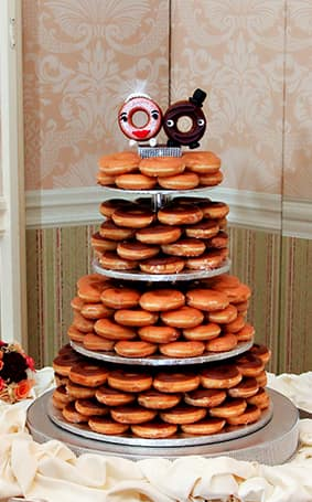 doughnut wedding cake wedding cake wednesday donut tower disney weddings 13710