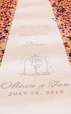 Ceremony Decor: Custom Aisle Runners | Disney Weddings| Disney Weddings