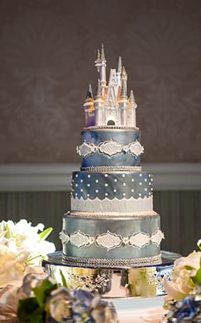 Wedding Cake Wednesday Blue Disney Cinderella Castle