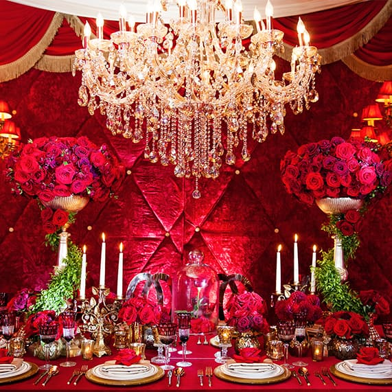 Decor: Beauty And The Beast Inspired Grand Reception