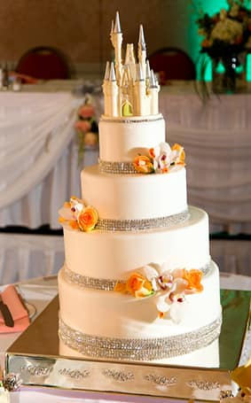 Wedding Cake Wednesday: Floral Royal Bling | Disney Weddings