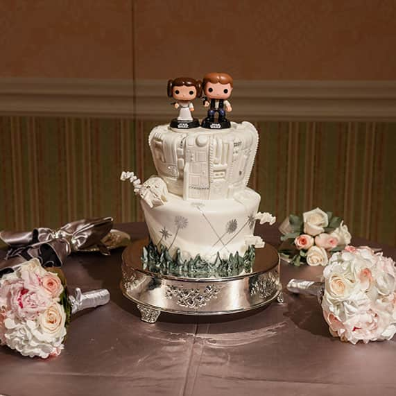 disney wedding cake set wedding cake wednesday han and princess leia 13587