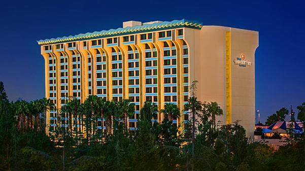 Exterior of Disneys Paradise Pier Hotel