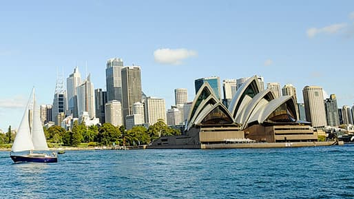 Sydney Opera House and the surrounding waterfront