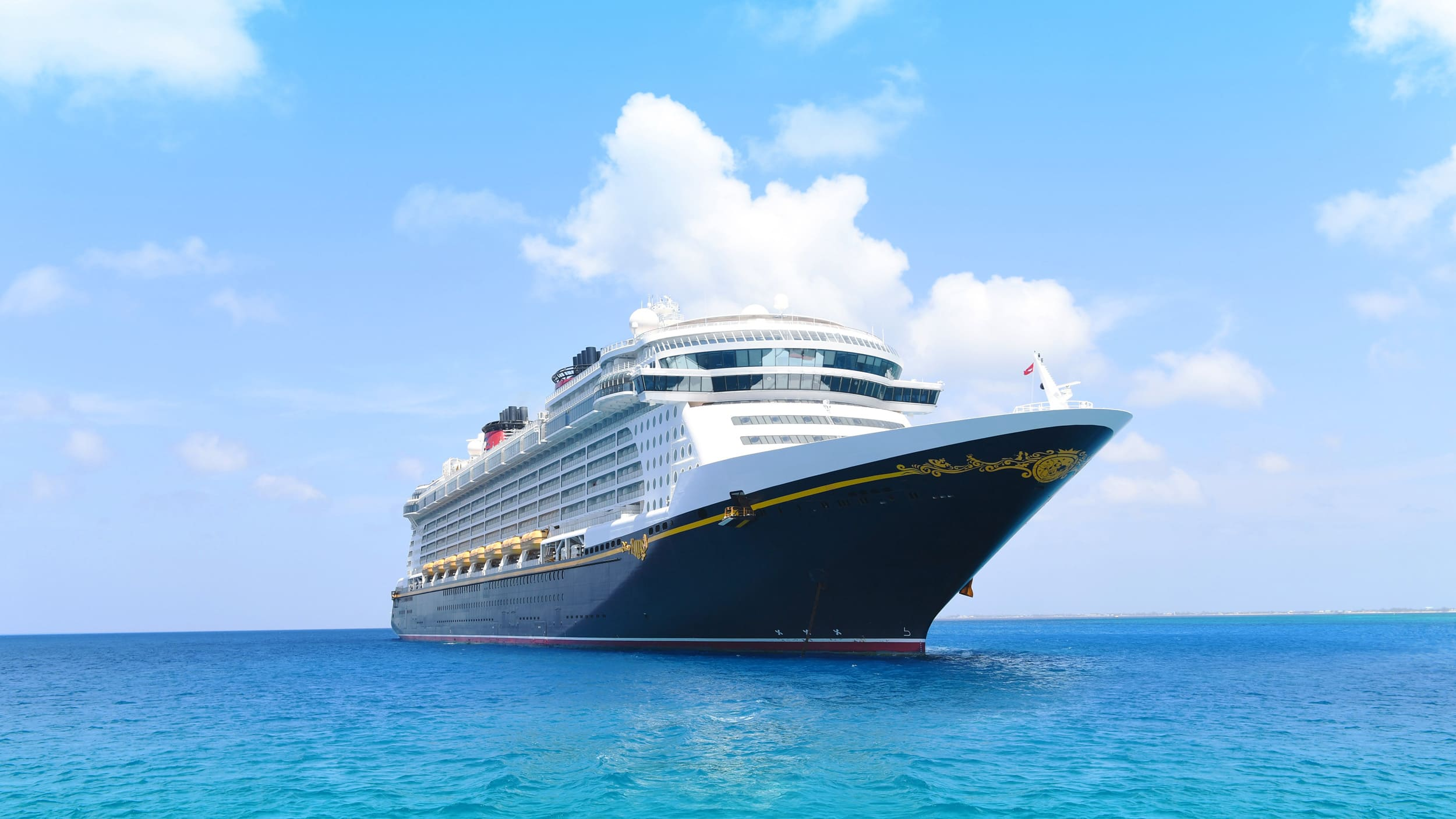 A Disney Cruise Line ship in open waters